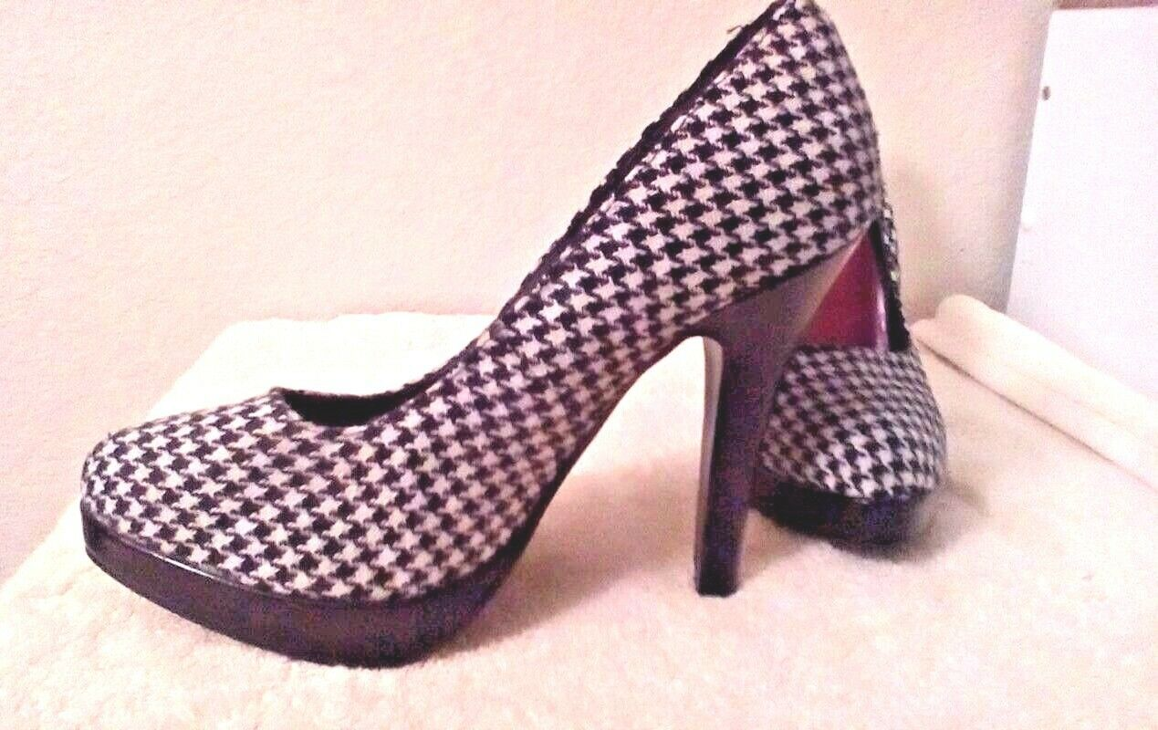 Black/White Made Checker 5 inch Pumps Made Black/White by Delicious Size 7m US 161ee6