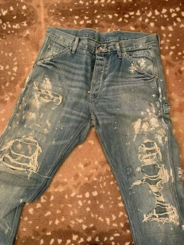 Ralph Lauren Denim Distressed Paint Splatter Repai