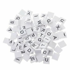 Green Wood Scrabble Tiles complete set color Craft Pendant Spelling Alphabet