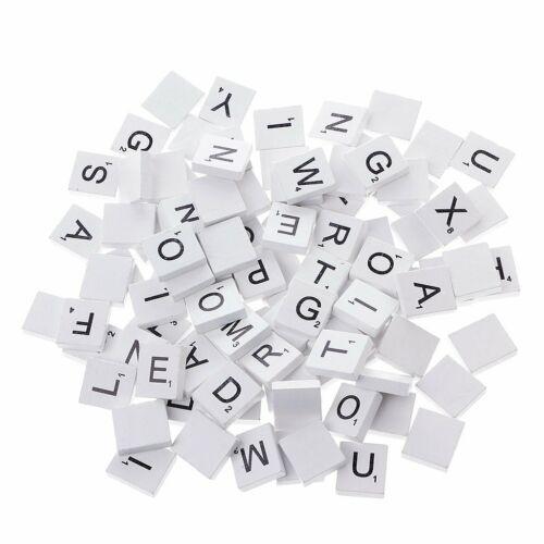 Blue Wooden Scrabble Tiles complete set color Craft Pendant Spelling Alphabet