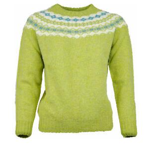 e83ce5432a Das Bild wird geladen Glenugie-Rundhals-Pullover-Damen-Gruen-Pink-ehem-UVP-