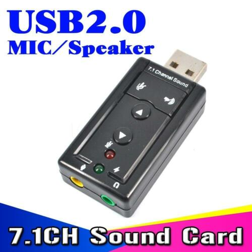 New lot of 2 virtual 7.1 CH USB 2.0 external sound card adapter new