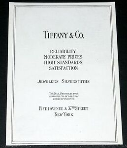 Image is loading 1915-OLD-MAGAZINE-PRINT-AD-TIFFANY-amp-CO- b550655ea7d2