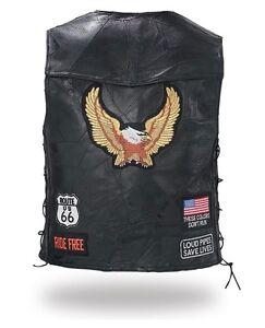 Gilet-jacket-blouson-sans-manche-en-cuir-route-66-S-a-4XL-grande-taille