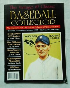 13-NOV-DEC-1997-Vintage-amp-Classic-Baseball-Collector-Magazine-VCBC-VG