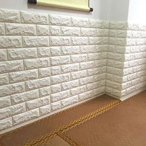 3D-Tuile-Brick-etanche-Autocollant-Mural-Mousse-Panneau-Papier-peint-66-75cm