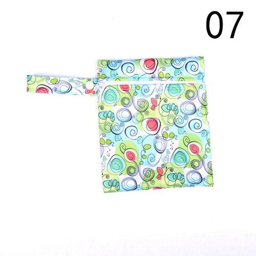 Baby Infant Waterproof Reusable Zip Wet Dry Bag Diaper Nappy Pouch Pocket Bag、HC