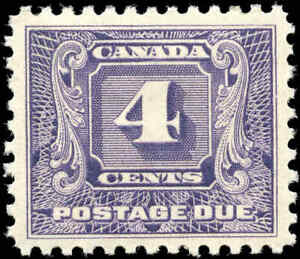 Mint H Canada 1930-32 VF Scott #J8 4c Postage Due Stamp