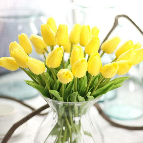 ❤10//20x Künstliche Blumen Rosa Tulpen Kunstblumen Tulpenbund Blumenstrauß Deko
