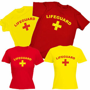 5b254227 Image is loading Lifeguard-T-SHIRT-fancy-dress-costume-beach-life-
