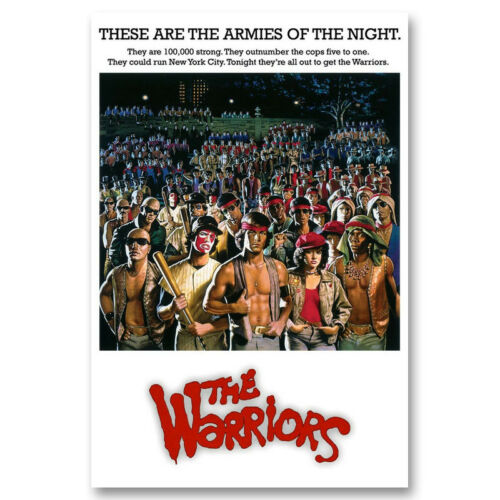 The Warriors Classic Movie Canvas Poster Art Prints Picture 8x12 24x36 inch