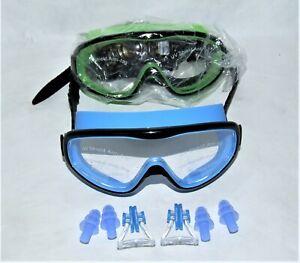 Unisex Anti-Fog Swimming Goggles Swim Cap Nose Clip UV Protection Ear Plugs