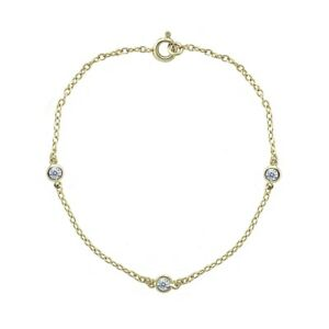 Dainty-Cubic-Zirconia-Station-Chain-Bracelet-in-Gold-Plated-925-Silver-7-Inches