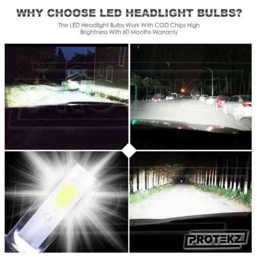 9006 HB4+HB3 9005 6K LED Headlight Kit for Honda Accord 1997-2007 High/&Low Beam