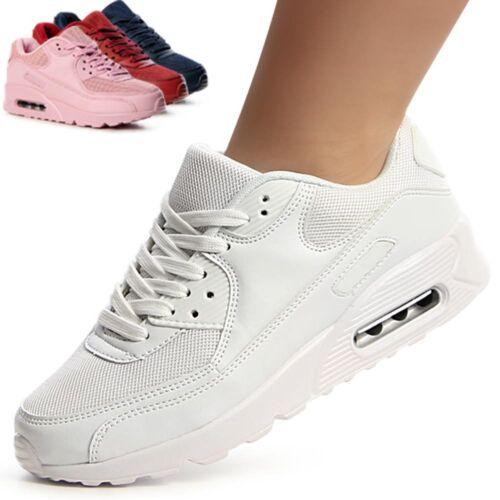 Damen Keil Sneaker Turnschuhe Sportschuhe Runners Freizeit Derby