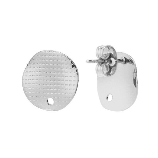 20pcs/lot Silver stainless steel Studs Earrings Post jewellery making findings