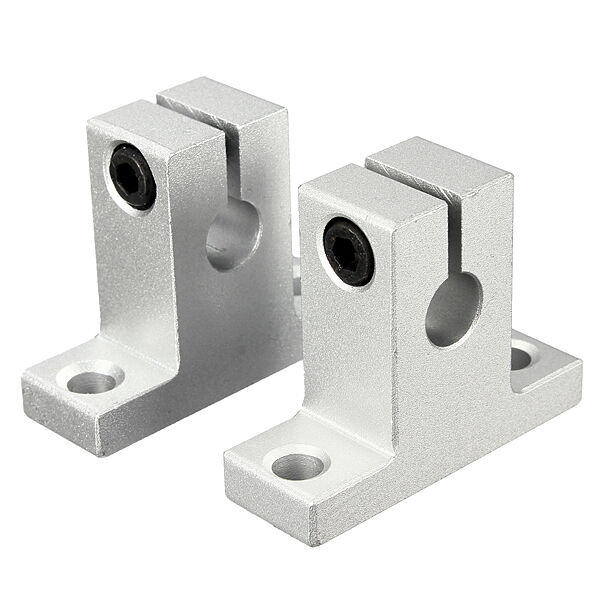 2pcs SK8 8mm Bearing CNC Aluminum Linear Rail Shaft Guide Support