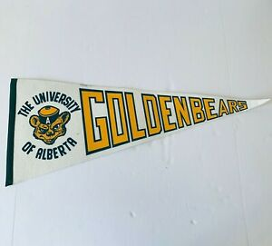 Vintage University of Alberta Golden Bears Souvenir Pennant 30""