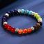 miniature 8 - 7 Chakra Healing Tiger Eye Natural Stone Yoga Energy Beads Bracelet Jewelry Hot