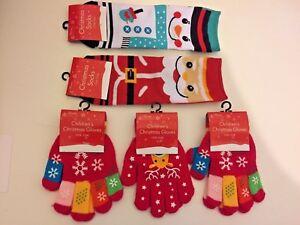 CHILDREN CHRISTMAS GLOVES /& SOCKS PERFECT XMAS GIFT FOR KIDS
