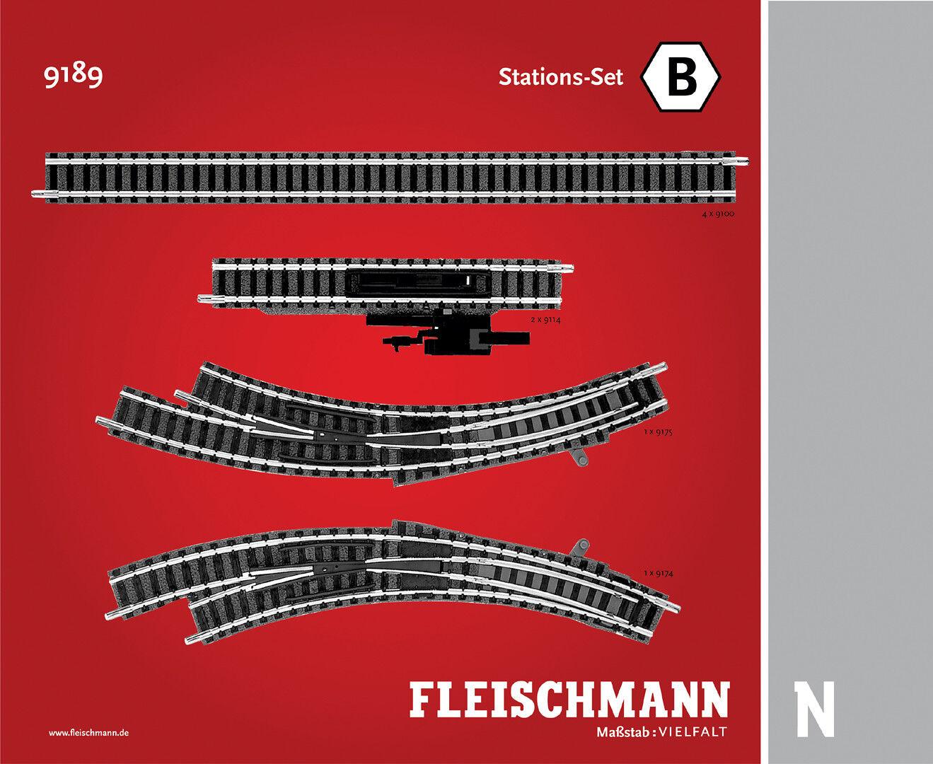 Fleischmann N 9189 Stations-Set B - Nuevo + Emb.orig