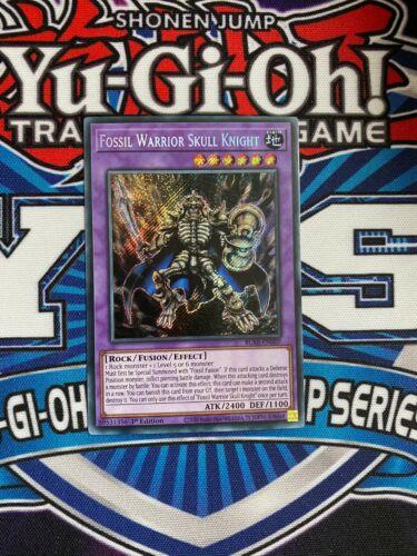 Yugioh Fossil Warrior Skull Knight N, BLAR-EN007 1st Edition Secret Rare