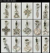 15 tibetan silver europeo Pendenti Charm Perline Mix FIT Bracciale con Charm (box89)