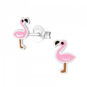 Girls Kids 925 Sterling Silver White Chick Studs Earrings Animal