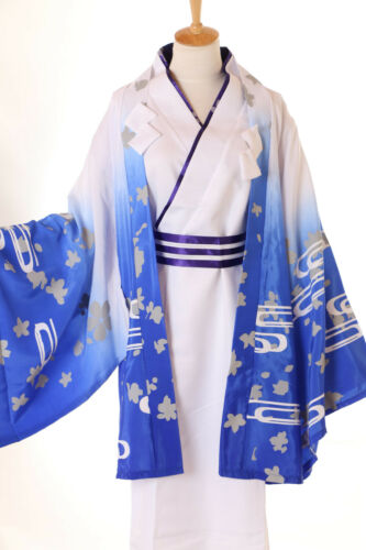 Mn-35 Gugure Kokkuri-san Japon Renard Esprit blanc Kimono Yukata Set de Cosplay Costume
