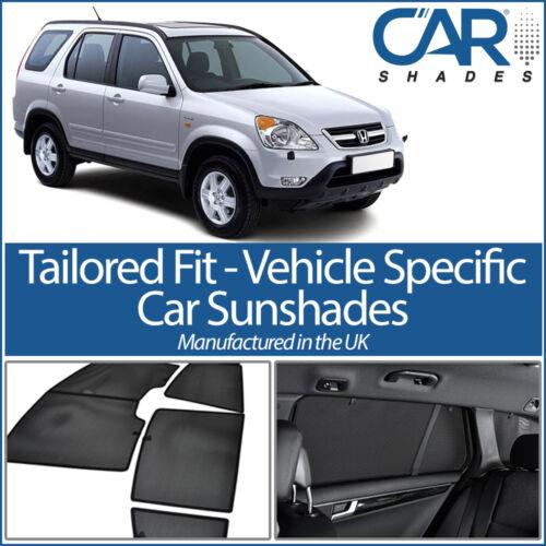 Honda CR-V 5dr 01-06 UV CAR SHADES WINDOW SUN BLINDS PRIVACY GLASS TINT BLACK