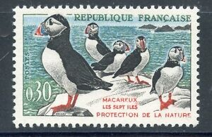 STAMP-TIMBRE-FRANCE-NEUF-N-1274-FAUNE-MACAREUX-MOINES