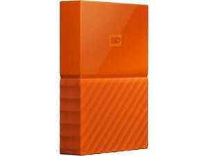 WD 4TB My Passport Portable Hard Drive USB 3.0 Model WDBYFT0040BOR-WESN Orange