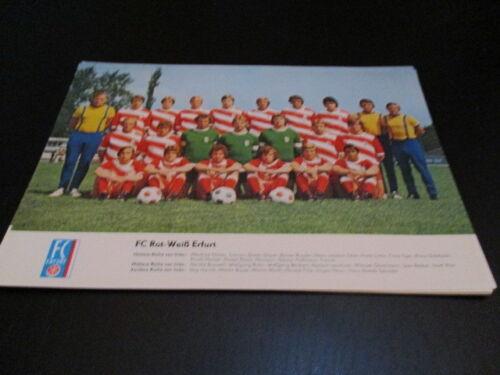 250516 A4 Poster FC Rot Weiß Erfurt DDR Oberliga 1978 Mannschaftsbild