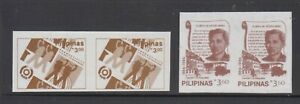 Philippine-Stamps-1986-Definitive-Reissues-Rizal-3-60p-amp-APO-3-00p-Proof-Imper