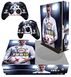 xbox one s slim sticker fifa 18 football cristiano ronaldo 01 skin 2 pad skins ebay. Black Bedroom Furniture Sets. Home Design Ideas