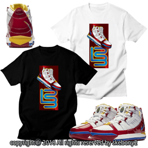 the latest 23283 a6b6a Details about CUSTOM T SHIRT MATCHING STYLE OF Nike Zoom LeBron 3 SB  SuperBron NZL 1-4-1
