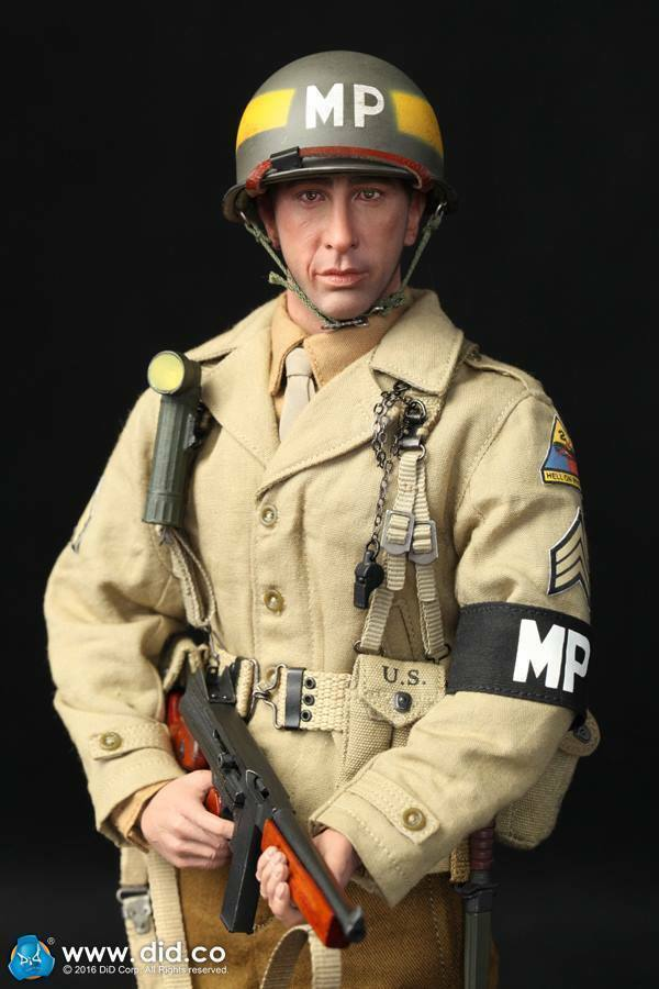 1 6 Scale DID A80116 WWII US 2nd Armored Division MP Military Police Bryan