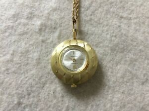 Swiss Made Lucerno Vintage Mechanical Wind Up Necklace Pendant Watch