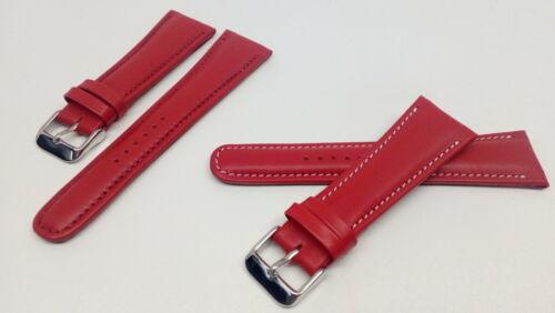Bracelet montre modèle rvchrono en cuir de veau rouge-Disponible de 18 à 26mm