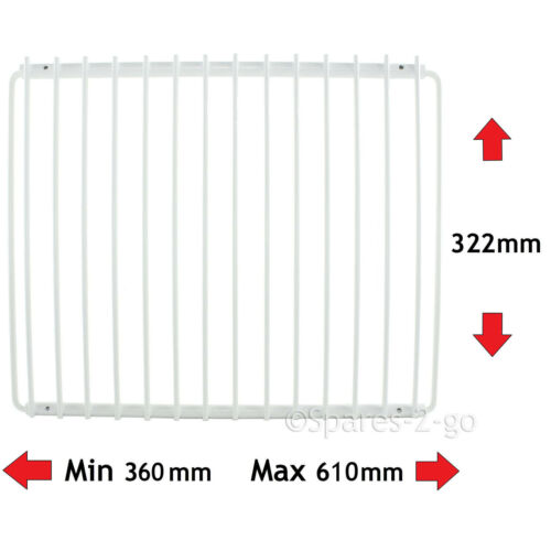 MENSOLA frigorifero x 2 per Frigorifero Frigidaire bianco rivestito regolabile Rack