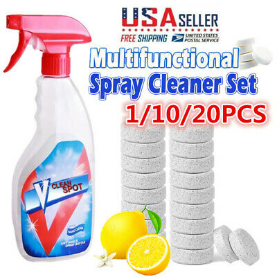 1PCS=4L Water Multifunctional Effervescent Spray Cleaner Concentrate Home Cleani