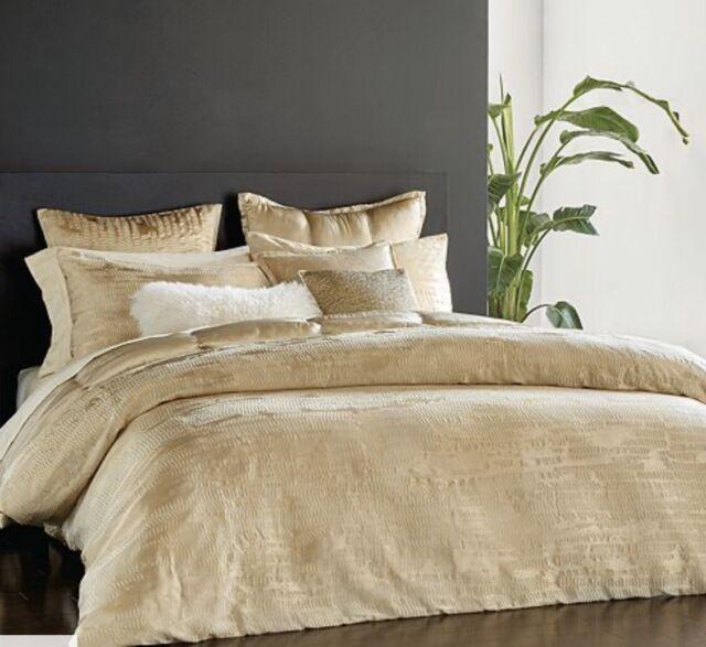 Donna Karan Home Euro Sham Vapour, Donna Karan Home Reflection Gold Dust Bedding Collection