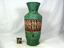 "Beautiful 60´s Italian ""Alla Moda""  relief pottery Keramik Vase 8815 ITALY"