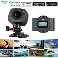 Wifi Dual-lens 360° Panoramic Sport Dv Action Camera Vr Video Camcorder Recorder