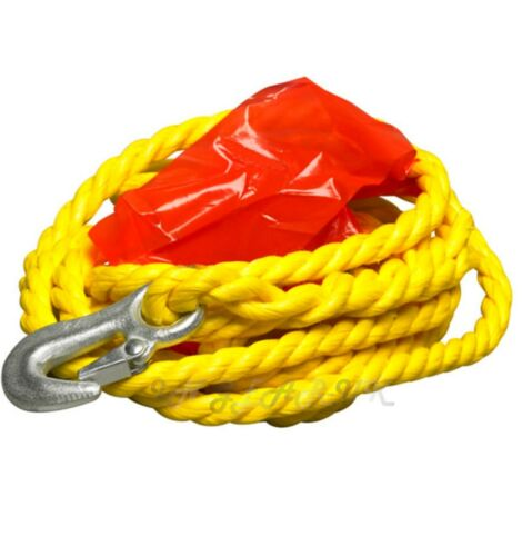 2000kg 2 tonne 4m Long Recovery Tow Rope Car Emergency High Visibility Rescue