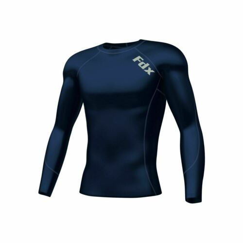 FDX Homme Compression Armour Base Layer Tops Running Sans Manches Sports Shirt