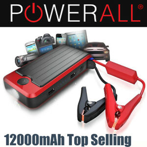 Details About Powerall Jump Starter Pbjs12000r Deluxe Portable Power Bank Car Jump Start