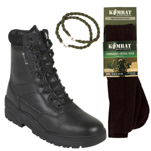 Twists Trouser With Army Patrol Socks stivali Tactical nero And Leather Combat Ow80q7xY