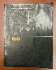 Yale D5, 4 Cylinder Gasoline, LPG Engine Maintenance Manual (1493)