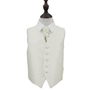 DQT-Plain-Solid-Check-Ivory-Boys-Wedding-Waistcoat-amp-Cravat-Set
